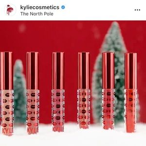 kylie cosmetics holiday mini 6 piece lip set